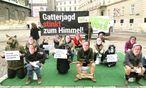 Protest gegen die Gatterjagd / Bild: (c) APA/VGT (UNBEKANNT)