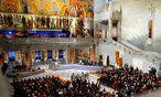 Einmal im Jahr schaut die Welt nach Oslo. Am Freitag wird der diesjährige Friedensnobelpreisträger verkündet. / Bild: (c) EPA (Heiko Junge)