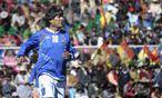 Evo Morales, Nr. 10 auf dem Platz und zugleich die Nr. 1 in Boliviens Politik. / Bild: REUTERS