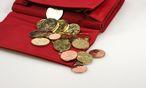 Rote Geldbörse mit Münzen / Bild: www.BilderBox.com
