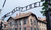 Archivbild: Die historische Aufschrift im KZ Auschwitz / Bild: APA / dpa / Ulrich Haessler