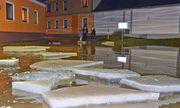 Der Eisstoß führte zu einem Hochwasser in Vestenpoppen. / Bild: (c) APA (BFK Waidhofen)