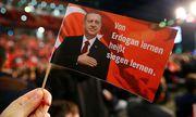 Eine Flagge während des Besuchs des türkischen Premiers Yildirim in Oberhausen. / Bild: REUTERS