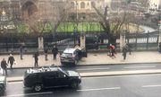 Die Amokfahrt des Attentäters endete in einem Zaun des Parlaments. Danach attackierte der Mann einen Polizisten. / Bild: (c) APA/AFP/Handout/JAMES WEST (JAMES WEST)