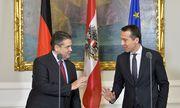 Gabriel bei seinem ersten Arbeitsbesuch in Österreich als Außenminister. / Bild: APA/HERBERT NEUBAUER