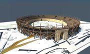 Im Bild: Ein Rendering des neu entdeckten Amphitheaters aus Holz. / Bild: APA/LBI ARCHPRO, 7 REASONS
