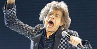 Mick Jagger of the Rolling Stones performs in Japan for the first time in eight years during a concert at Tokyo Dome in Tokyo