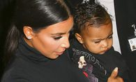 Kim Kardashian sa fille North West CELEBRITES Defile Balenciaga Pret a porter 24 09 2014 Gwe / Bild: (c) imago/PanoramiC (imago stock&people)