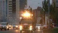 Wahlveranstaltung: Darth Vader in den Straßen Kiews / Bild: (c) Reuters (Reuters, OCT 24 RTV, PETRO POROSHENKO BLOC, OCT 24)