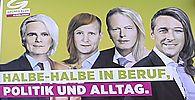 FRAUENTAGS-AKTION DER GRUeNEN 'HALBE-HALBE IN BERUF, POLITIK UND ALLTAG': GLAWISCHNIG / SCHMID / ASLAN / KORUN / ROSSMANN / KOGLER