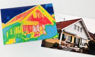 Thermografische Aufnahme: Die Farbunterschiede zeigen mögliche Schwachstellen der Fassade an. / Bild: (c) Bilderbox