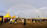Am Nova Rock 2016 gab es einen Regenbogen zu bestaunen / Bild: (c) APA  (HERBERT P. OCZERET)