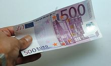 Banknote, Geldschein, 500 Euro, Europaeische Waehrung, Geld Photo: Michaela Bruckberger