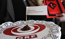 Aktionismus ORFFreie schenken Wrabetz