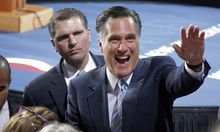 RomneySprecher stolpert ueber offenes