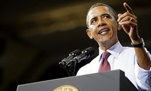 President Barack Obama speaks during a visit to the Univeristy of Richmond in Richmond, Va., on Frida