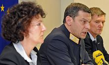Pressekonferenz zum Gold-Mord in Tirol.