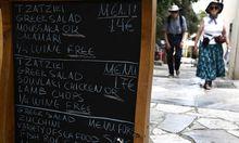 Griechische Hotels Wirte setzten