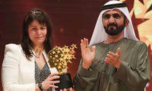 Maggie MacDonnell mit Scheich Mohammed bin Rashid al-Maktoum