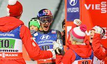 Österreichs Team jubelt
