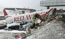 Moskau Passagierflugzeug zerbricht Landung