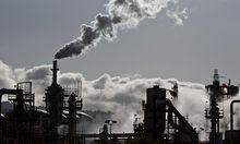 File photo of ConocoPhillips oil refinery in San Pedro