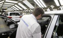 Just-in-Time-Risiko: Fehlt nur ein Teil, steht die Produktion im Autowerk still.