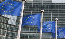 BELGIUM EU COMMISSION FLAGS
