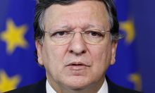 European Commission President Barroso speaks during a news conference following his meeting with Slovakia's PM Fico in Brussels