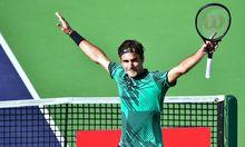 Im Hoch: Roger Federer.