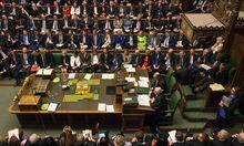Das britische Unterhaus beriet am Montag ein letztes Mal über das Brexit-Gesetz.