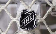 NHL-Wappen auf Tornetz