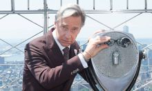 July 12 2016 New York New York USA Ghostbusters Director PAUL FEIG lights the Empire state Bu