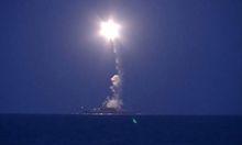 Vom kaspischen Meer aus startet Russland Raketen in Richtung Syrien.