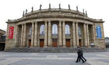 General view of opera house in Stuttgart