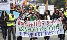 Themenbild: Demonstration fuer Eritrea in der Schweiz