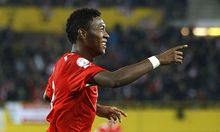 David Alaba im Nationalteam-Dress gegen Kasachstan.