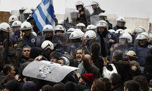 Athen Polizeigewerkschaft droht Troikaner