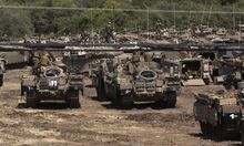 Israelische Panzer während einer Übung