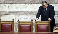 Finanzminister Evangelos Venizelos