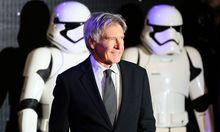 Harrison Ford arrives at the European Premiere of Star Wars, The Force Awakens in Leicester Square, London