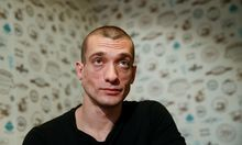 Russian artist Pavlensky gives interview in Kiev