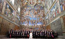 Papst Franziskus in der Sixtinischen Kapelle.