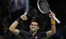 Novak Djokovic nach seinem relativ ungefährdeten Sieg über Jo-Wilfried Tsonga