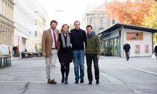 Investor Martin Rohla und die Gründer: Claudia Winkler, Matthias Frenzl und Georg Woschnagg (v.l.)