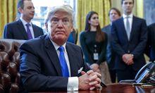"""US-Präsident Trump spricht von einem """"großen Tag""""."""