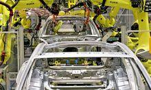 Panamera-Produktion mit Kuka-Robotern
