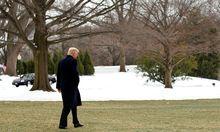 Trump vor dem Weißen Haus