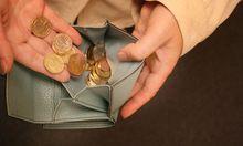 Geldboerse mit Muenzen / Money purse with coins
