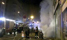 Die Feuerwehr rückte in die Landstraßer Haupstraße aus.